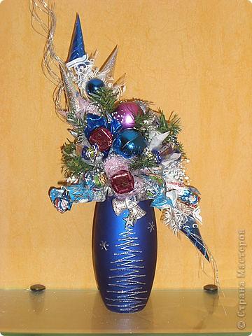 Букеты из конфет (Зима) фото 10