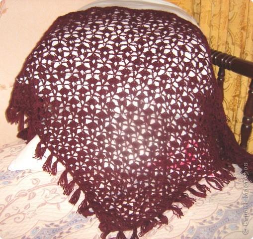 Представляю вам свои последние вязанные вещички: шарф, косынку и шаль. фото 2