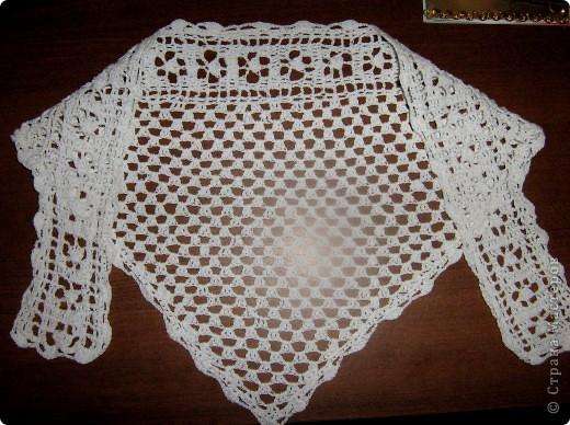 Представляю вам свои последние вязанные вещички: шарф, косынку и шаль. фото 3