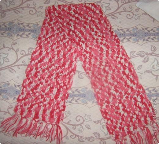 Представляю вам свои последние вязанные вещички: шарф, косынку и шаль. фото 4