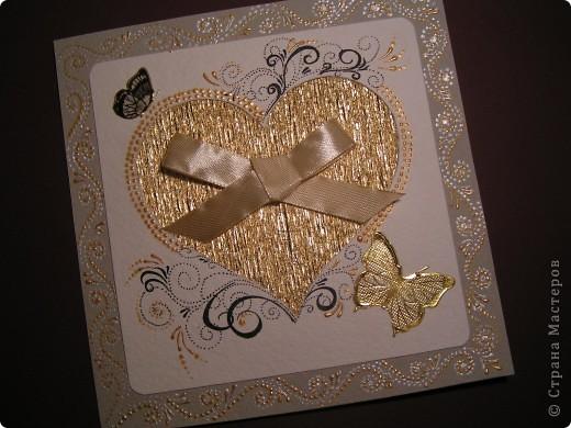 Почему сердце должно быть только красным? А мне захотелось золотое! Как драгоценный металл - красиво, дорого, бдестит! фото 1