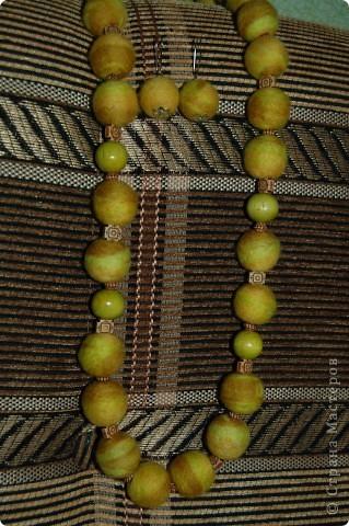Валяные бусы и серьги. фото 3