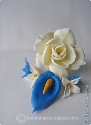 Декор предметов Лепка Цветочки из холодного фарфора Фарфор холодный фото 10