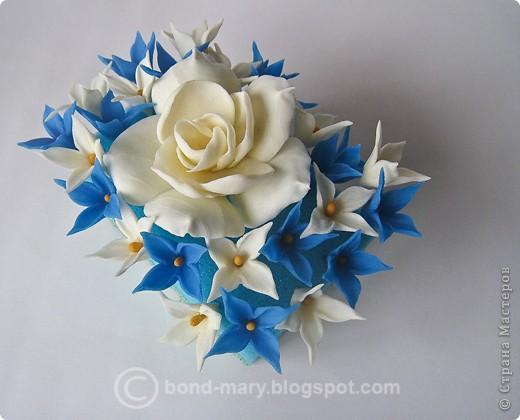Декор предметов Лепка Цветочки из холодного фарфора Фарфор холодный фото 1