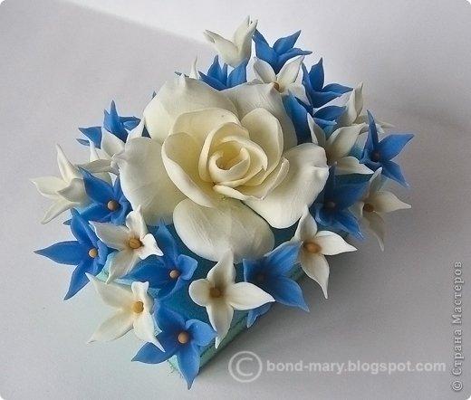 Декор предметов Лепка Цветочки из холодного фарфора Фарфор холодный фото 12