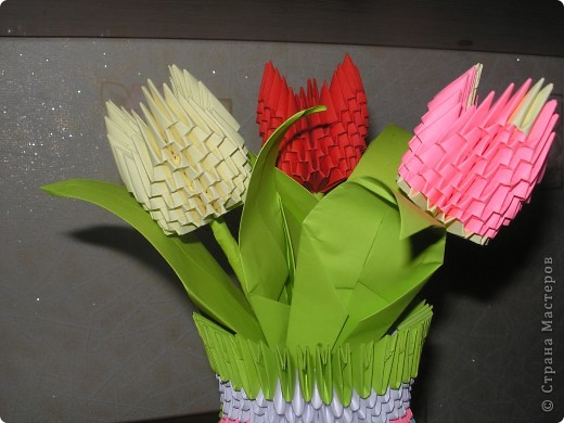 ТЮЛЬПАНЫ.СПАСИБО ЗА ИДЕЮ ТАТЬЯНЕ ПРОСНЯКОВОЙ.МК МОЖНО ПОСМОТРЕТЬ ЗДЕСЬ http://stranamasterov.ru/technics/tulips?c=favorite фото 1