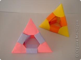 Геометрическое оригами. Тетраэдр фото 1
