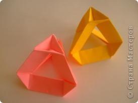 Геометрическое оригами.Тетраэдр2 фото 1