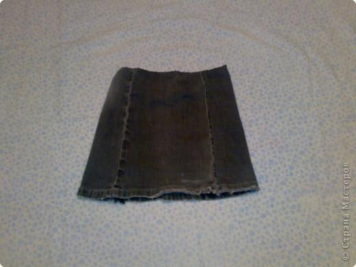 Джинсовая юбочка фото 1
