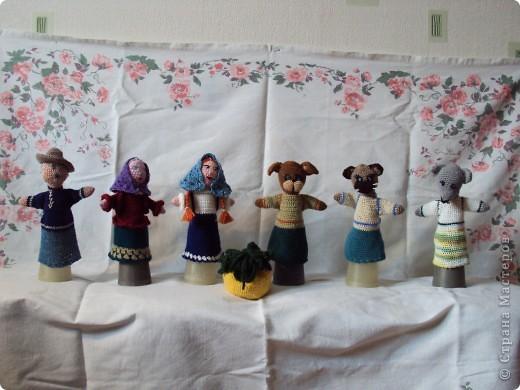 Вязаные куклы для сказки репка фото 1