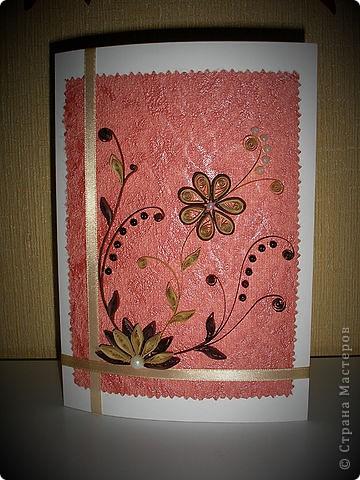 """Вот такая открыточка у меня получилась к Дню рождения начальницы :) Сверху еще будет надпись """"Поздравляем!""""  фото 2"""