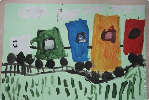 Наши январские произведения на уроках рисования. Снегири на ветке.   фото 3
