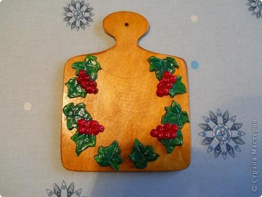 Понравилось мне поделки на деревянные досочки монтировать вместо рамок. Досочка с яблоком. фото 2