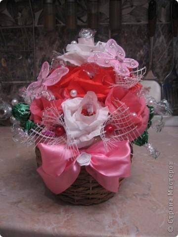 Букет из конфет - Розы фото 1