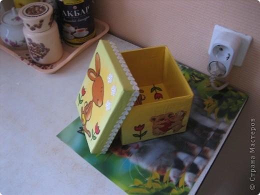 Коробочка для конструктора (сынишке) фото 1