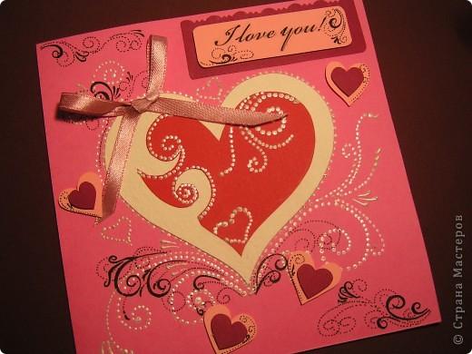 "Валентинка с надписью ""I love you"" фото 1"
