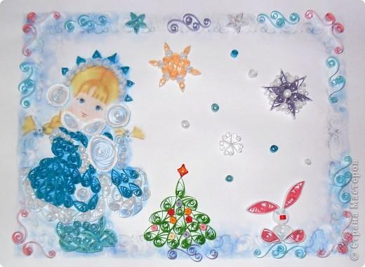 Я понимаю, что новогодние картинки уже не актуальны... но всетаки решила выложить  Картинку делала по просьбе сестры, племяннице в детский сад фото 1