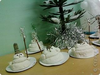 Наши снеговички.