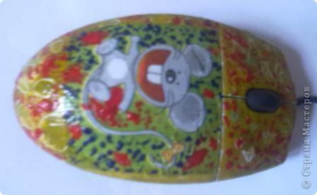 МЫШЬ Я ИЛИ НЕ МЫШЬ?????эту  мышку оформил мой сын почти самостоятельно фото 2