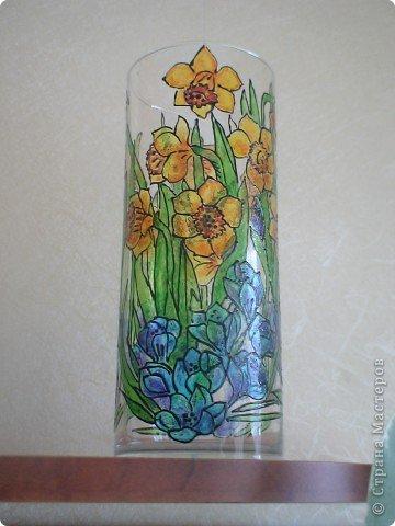 Первая роспись по стеклу. фото 1