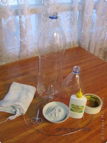 Ваза из пластиковой бутылки  фото 2