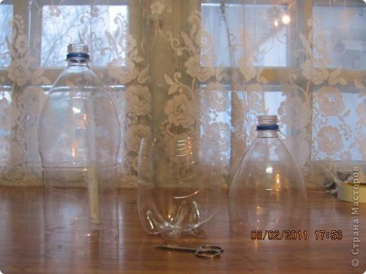 Ваза из пластиковой бутылки  фото 3