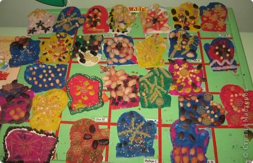 Наши пластилиновые рукавички