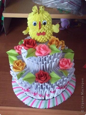 Мой первый тортик.Сделала на годик своей племяшке. фото 2