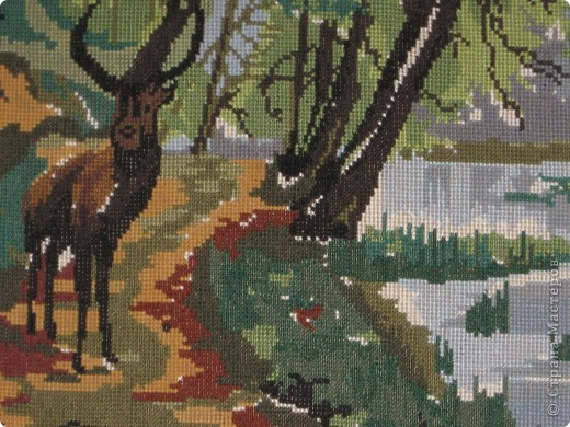 """работы моей мамы """"озеро в лесу"""" фото 2"""