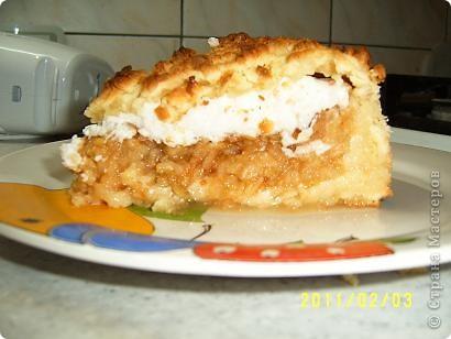 Я нашла рецепт яблочного пирога на просторах интернета, но приготовила я его сама. фото 1