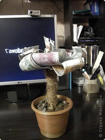 Вот такое деревце получилось у меня!!! Идея, надо признать, не авторская,подсмотрела у одного из участников  этого замечательнго сайта. фото 1