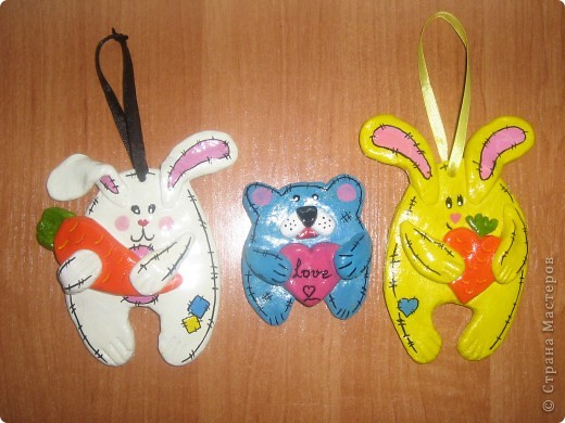 Кролики и мишка фото 1