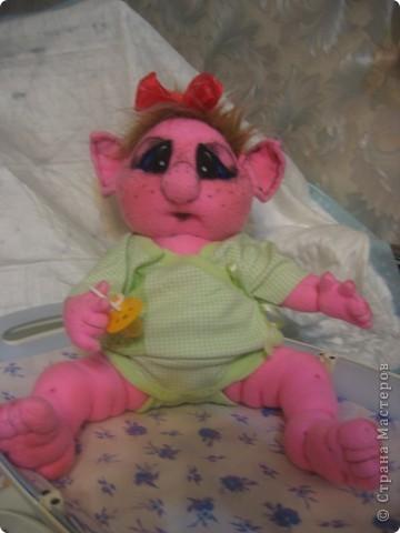 Малышка-тролик Милена,вес:600г.рост:48см фото 2