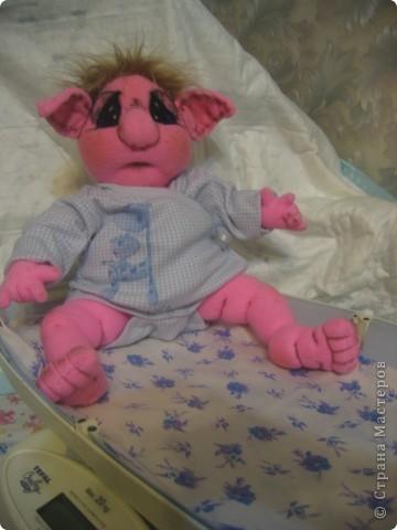 Малышка-тролик Милена,вес:600г.рост:48см фото 3