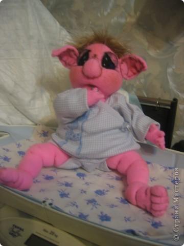Малышка-тролик Милена,вес:600г.рост:48см фото 4