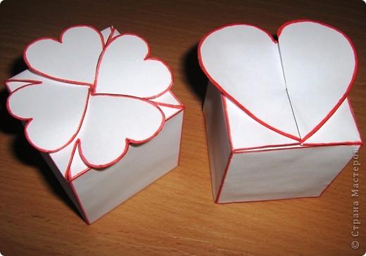 Хочу поделиться с Вами своей находкой.В такую коробочку можно положить небольшой презентик.Если сделать из красивой бумаги или картона,то коробочки получаются очень красивенькие,просто я очень торопилась Вам показать ))) фото 1