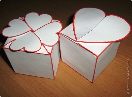 Как сделать валентинку из бумаги коробочку