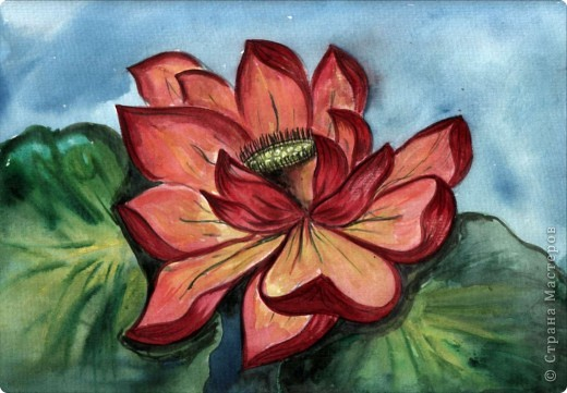 Цветок лотоса Ссылка на видео-урок http://www.youtube.com/watch?v=i4C6xzoUlw8&feature=related