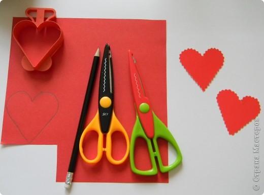 Мастер-класс Поделка изделие Валентинов день Изонить МК - Сердечки в технике изонить без иголки Бумага Нитки фото 3