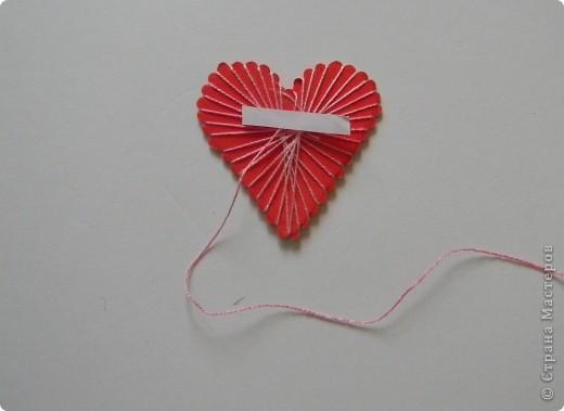 Мастер-класс Поделка изделие Валентинов день Изонить МК - Сердечки в технике изонить без иголки Бумага Нитки фото 8