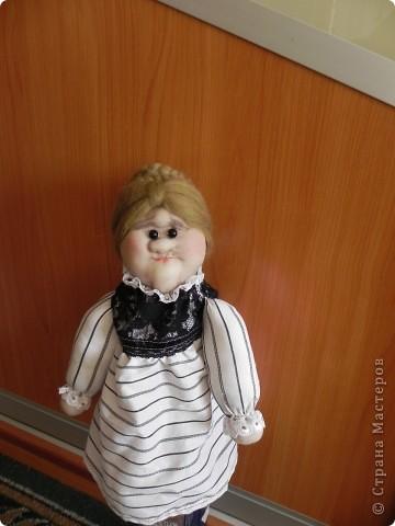 """На Новый Год мне подарили МК с вашего сайта """"Кукла Трындычиха"""" и Очень захотелось сшить себе такую же, но получилась """"Старая Классная Дама"""" из института благородных девиц.Ха-Ха-Ха."""