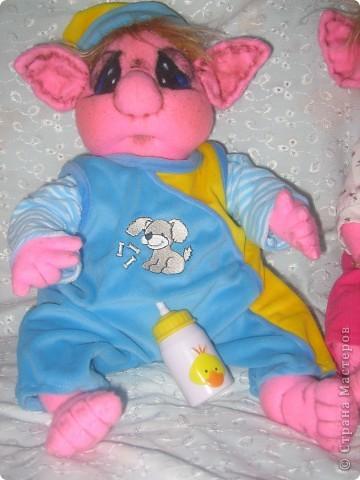 Малышка-тролик Милена,вес:600г.рост:48см фото 6