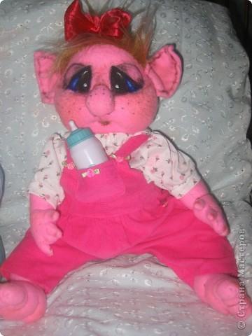 Малышка-тролик Милена,вес:600г.рост:48см фото 7
