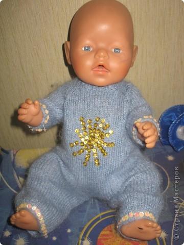 Связала кукле Baby Born зимние костюмы.  фото 1