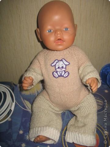 Связала кукле Baby Born зимние костюмы.  фото 2