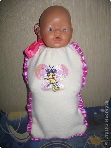 Связала кукле Baby Born зимние костюмы.  фото 4