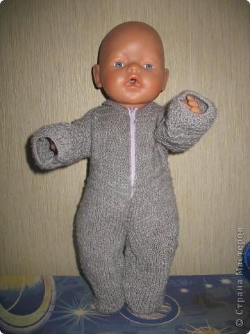 Связала кукле Baby Born зимние костюмы.  фото 3