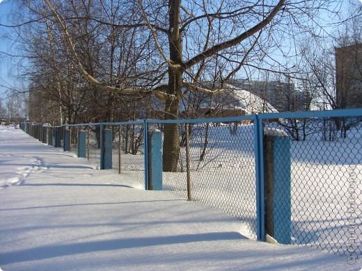 Я живу на окраине города. Этой зимой выпало очень много снега. фото 1