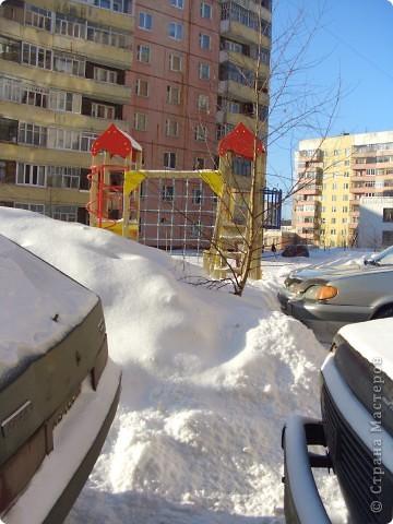 Я живу на окраине города. Этой зимой выпало очень много снега. фото 4