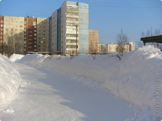 Я живу на окраине города. Этой зимой выпало очень много снега. фото 9